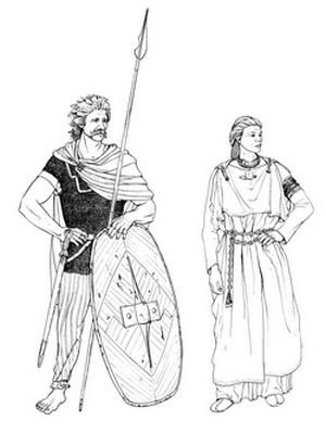 Guerrier et femme celtes